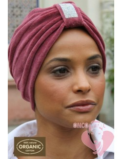 TURBANTE ONCOLOGICO ORGANIC ANTIQUE ROSE