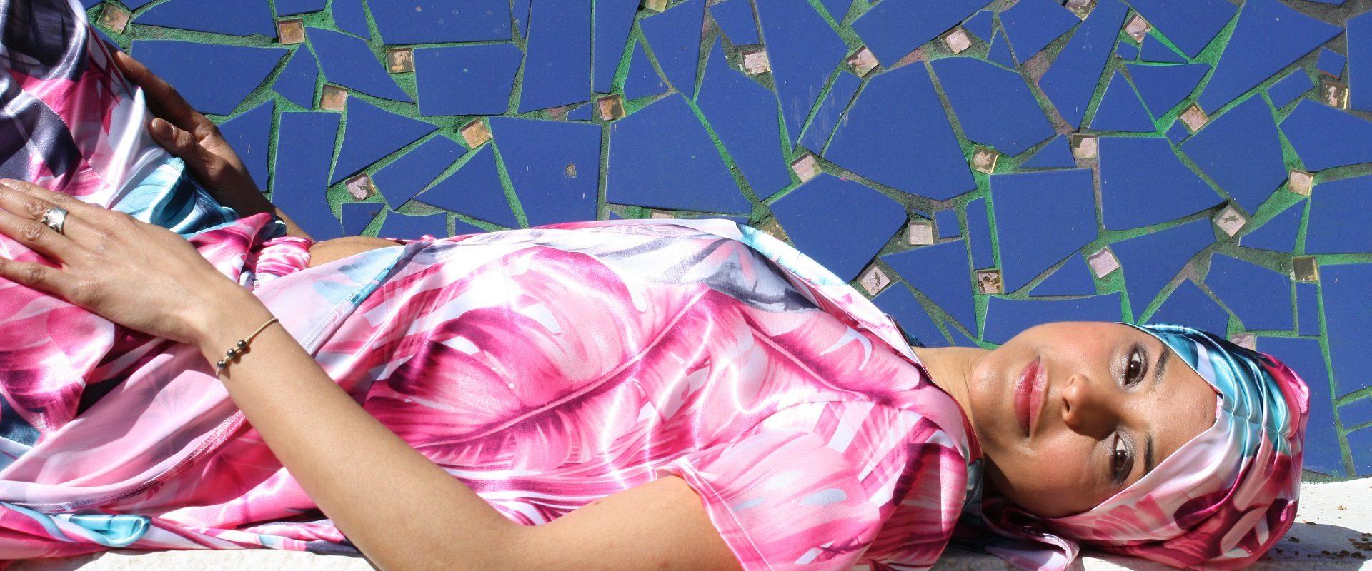 turbante estampado cintas largas alopecia quimioterapia